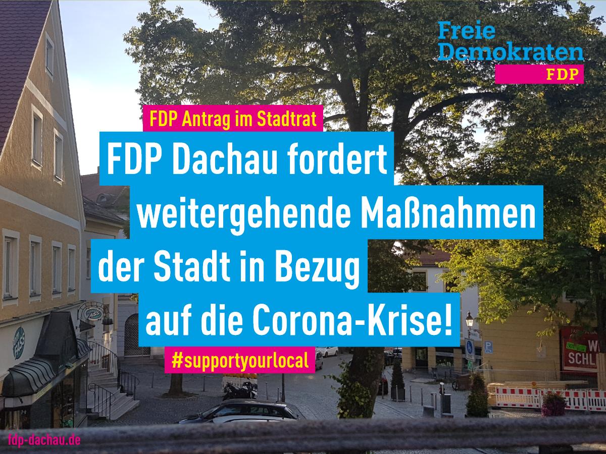 Dachau Corona: FDP Stadtratsantrag für Unternehmen