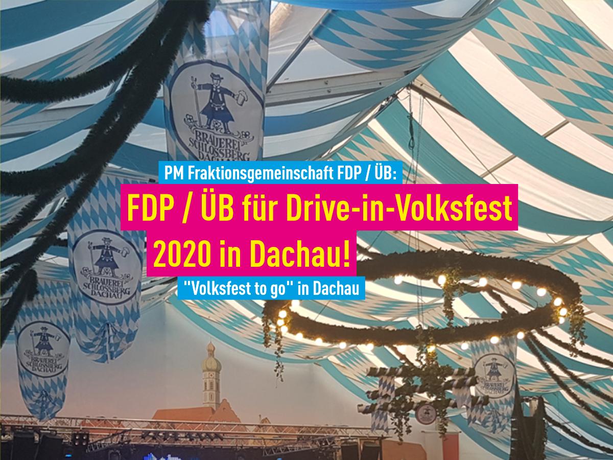 Drive in Volksfest Dachau 2020