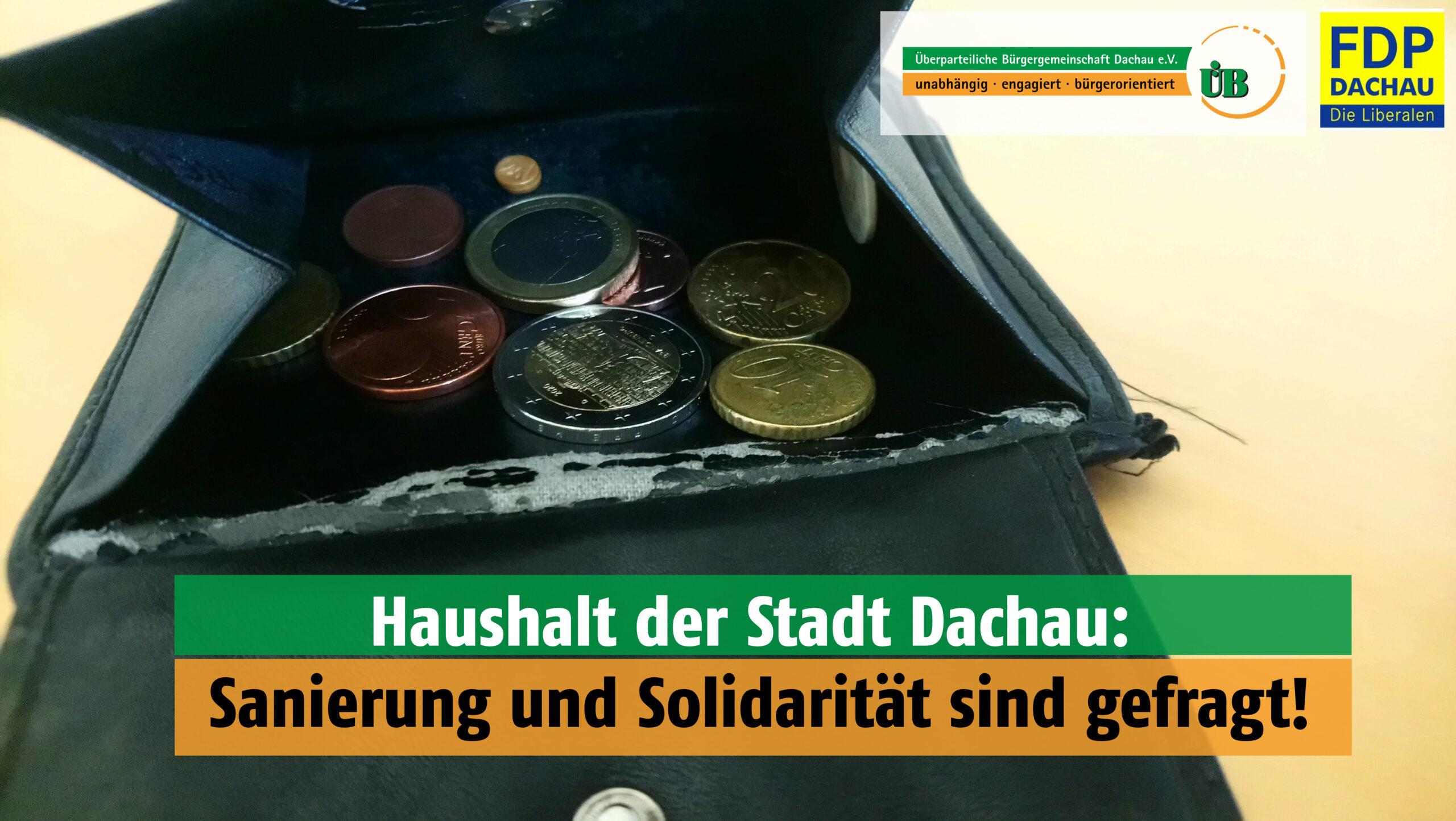 FDP und ÜB Dachau zum Haushalt 2021