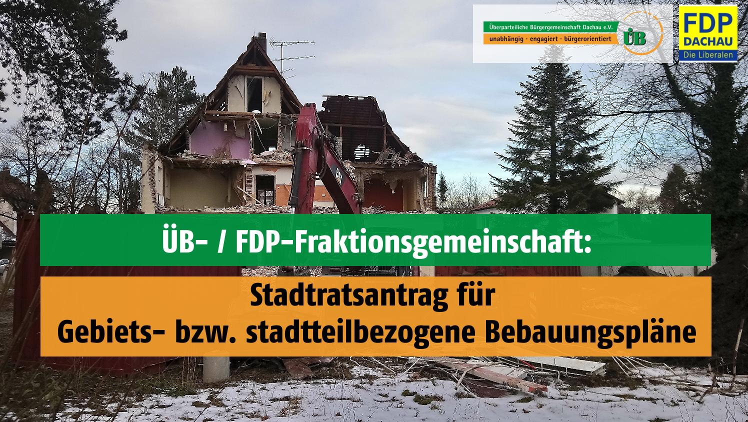 FDP und ÜB Dachau zu Abstandsflächen in einem stadtteilbezogenen Bebauungsplan.