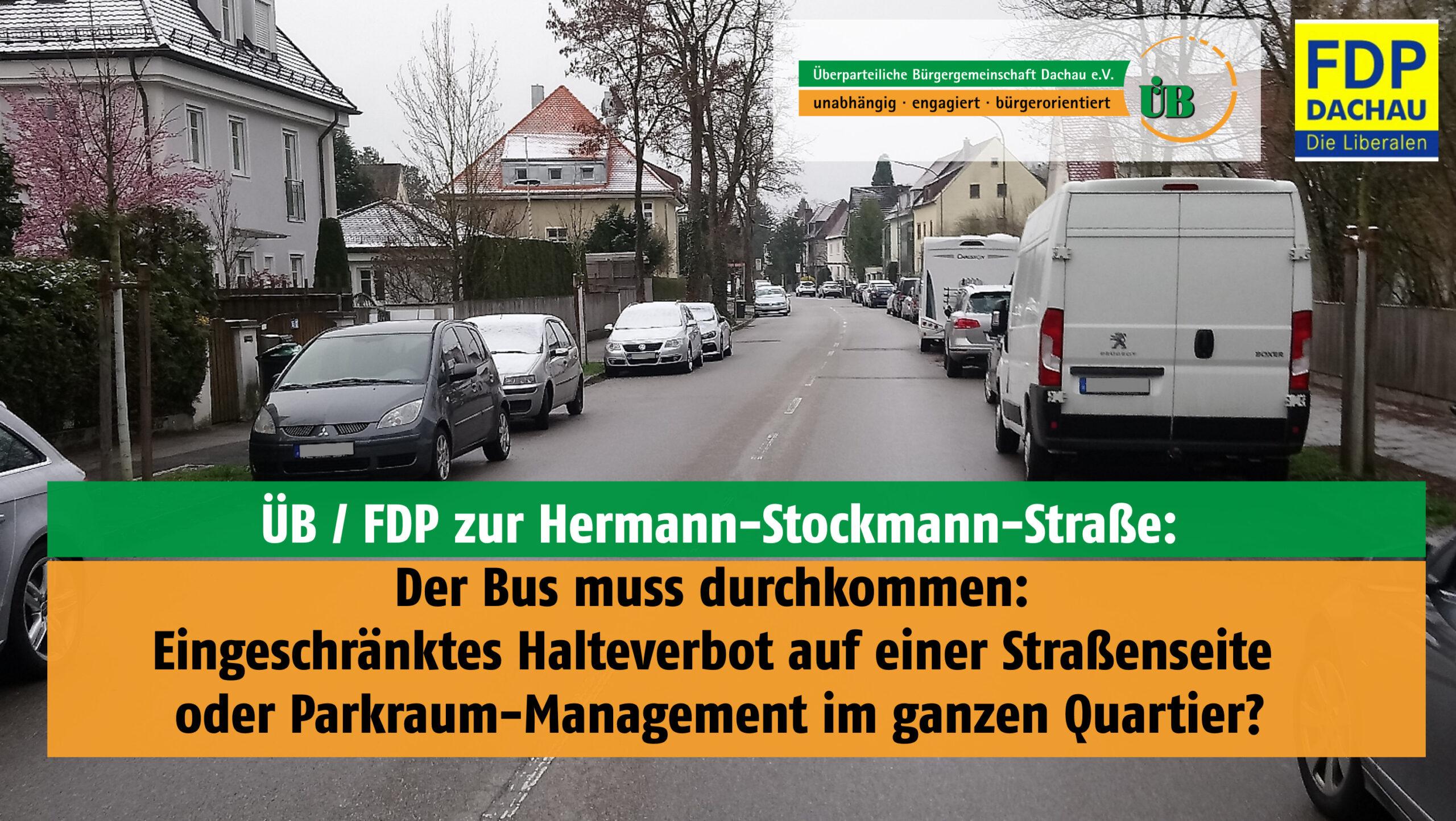 Hermann-Stockmann-Straße - Der Bus muss durchkommen