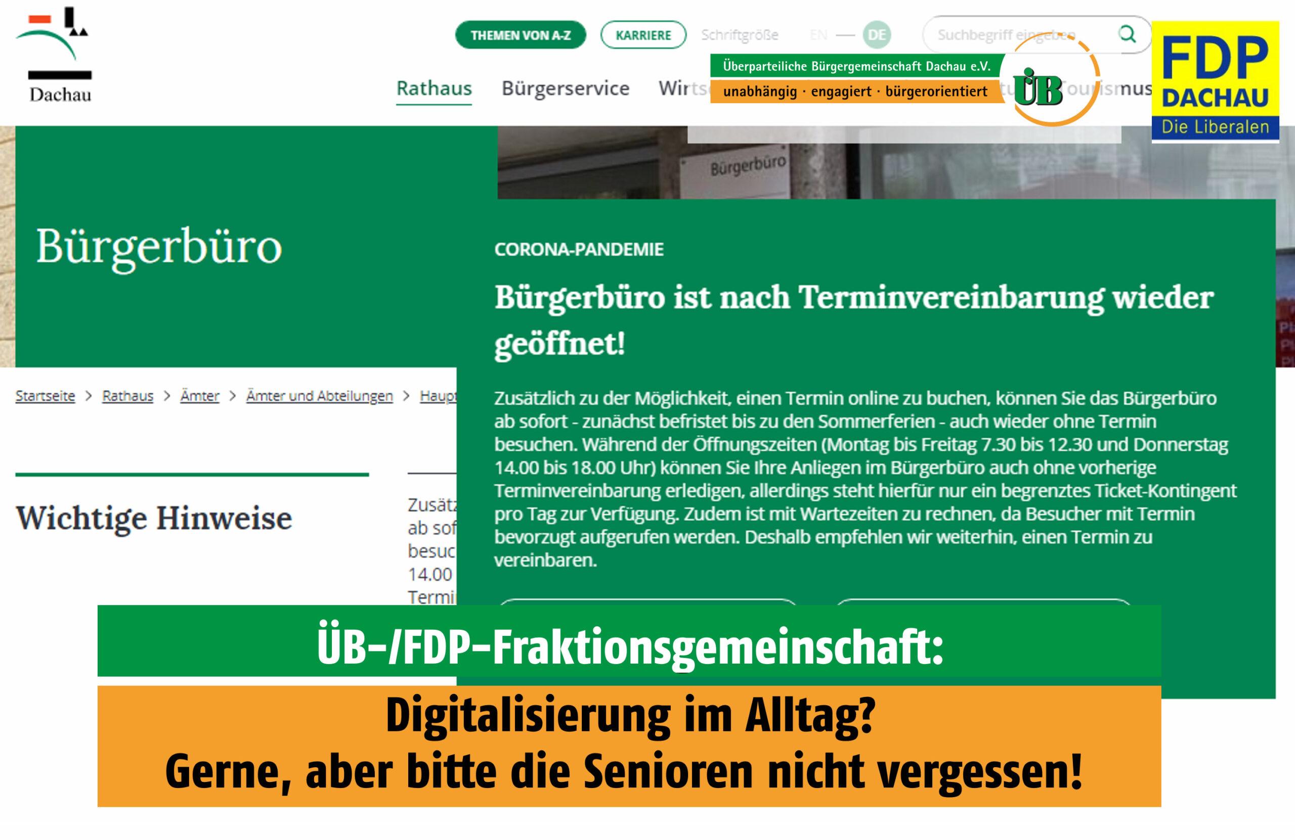 Digitalisierung im Bürgerbüro Dachau - FDP will Senioren nicht vergessen